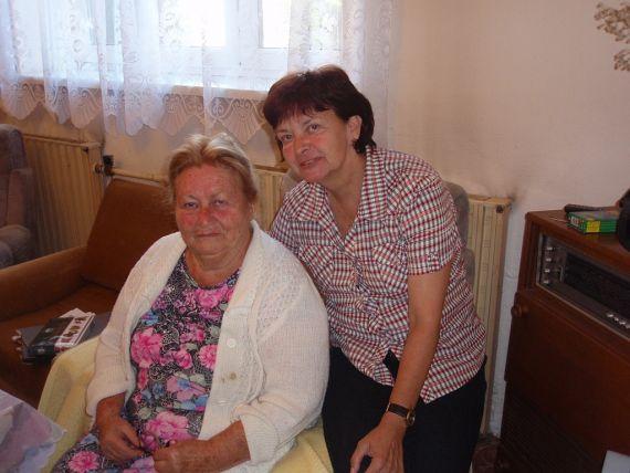 Rut Ctiborová-Popelková - studentka 1938 – 1941 se Zuzanou Prudilovou, (foto Pavel Ctibor, 2011)