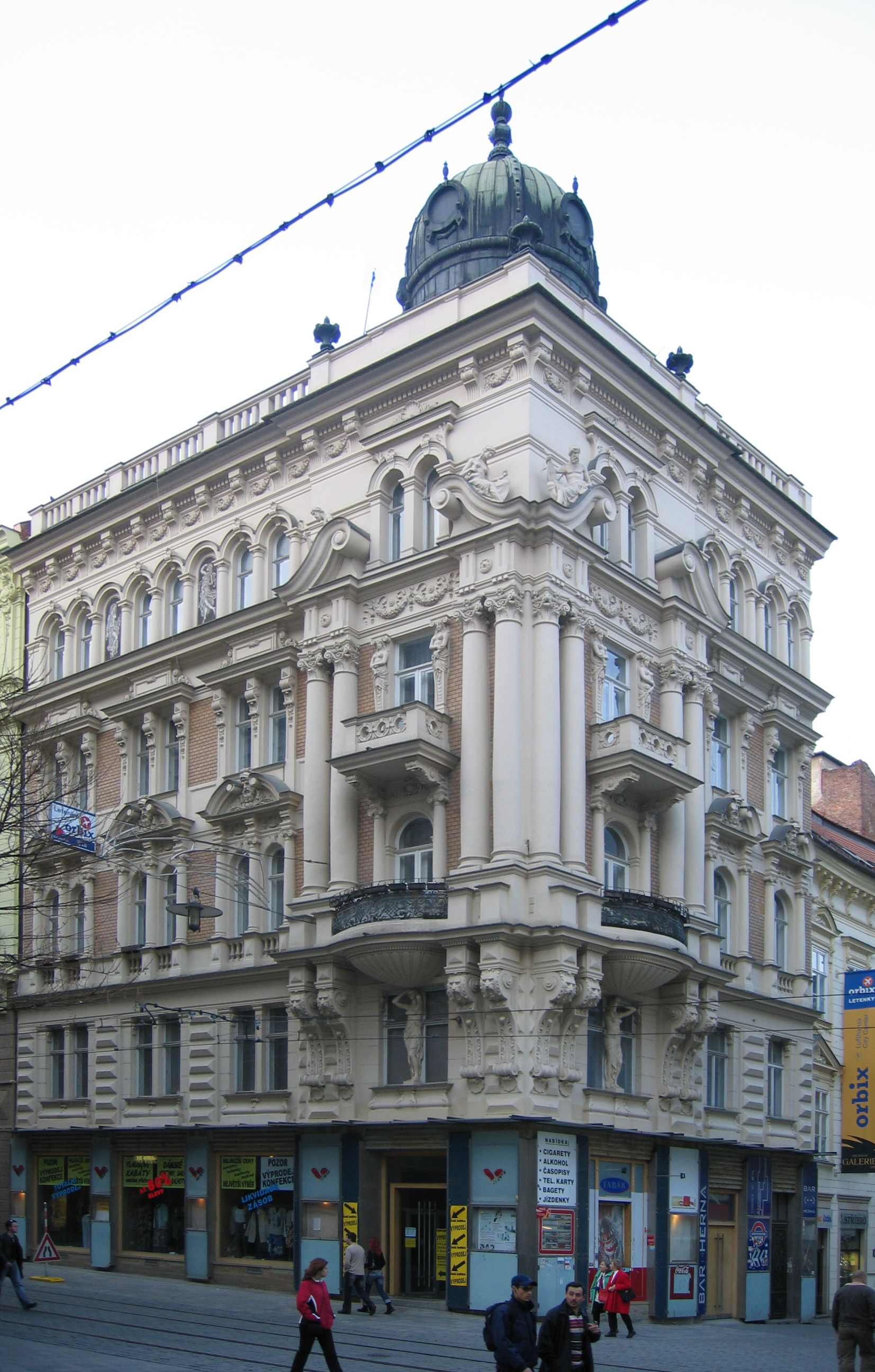 Wilhelm Stiassny, Dům Adolfa a Moritze Strachových, 1898, Brno,Orlí 1