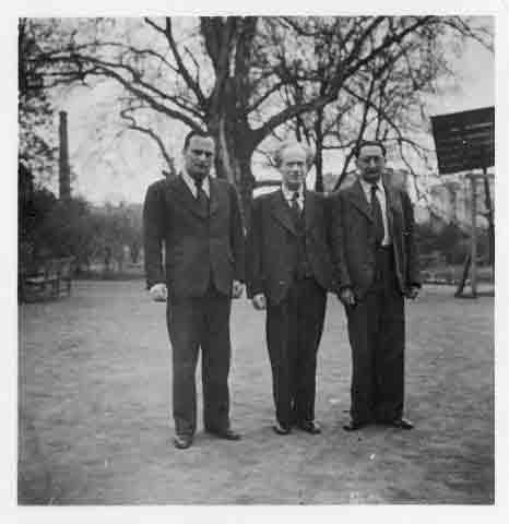 Zleva: Otto Ungar, Oskar Epstein, Otto Fuchs